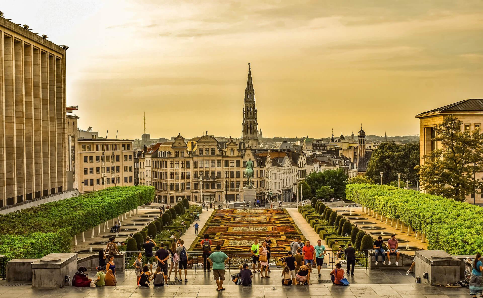Stadszicht van Brussel
